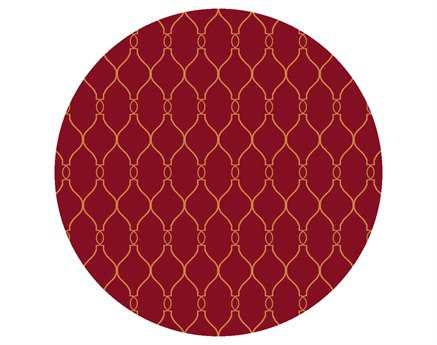 Surya Fallon 8' Round Red Area Rug