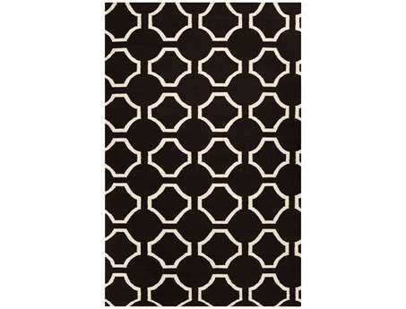 Surya Fallon Rectangular Black Area Rug