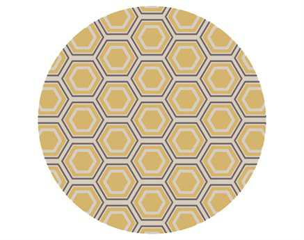 Surya Fallon 8' Round Yellow Area Rug