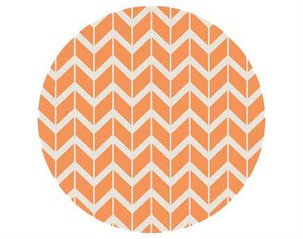 Surya Fallon 8' Round Orange Area Rug