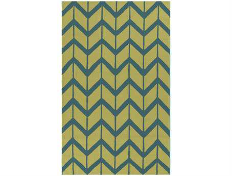 Surya Fallon Rectangular Green Area Rug