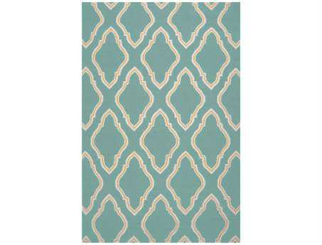 Surya Fallon Rectangular Teal Area Rug
