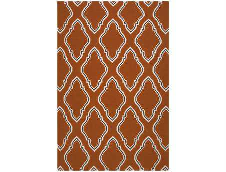 Surya Fallon Rectangular Orange Area Rug