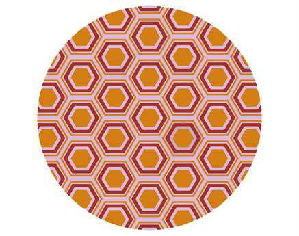 Surya Fallon 8' Round Orange Area Rug