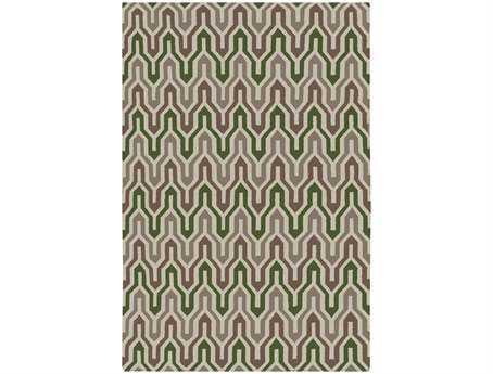 Surya Fallon Rectangular Green Area Rug