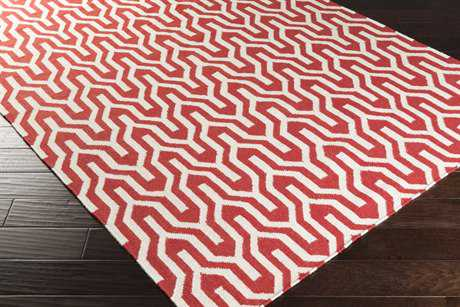Surya Fallon Rectangular Red Area Rug