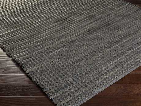 Surya Fan Belt Rectangular Gray Area Rug