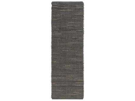 Surya Fan Belt 2'6'' x 8' Rectangular Gray Runner Rug