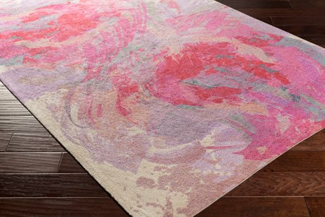 Surya Felicity Rectangular Hot Pink Area Rug