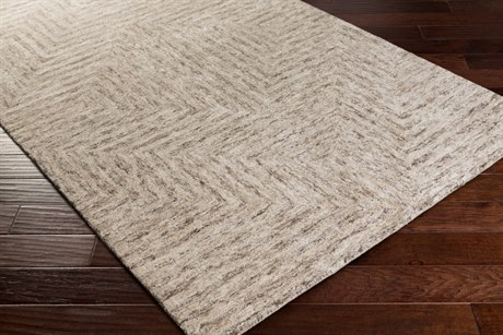 Surya Falcon Rectangular Light Gray Area Rug
