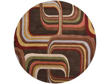 Surya Forum Round Brown Area Rug