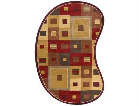 Surya Forum Kidney Red Area Rug