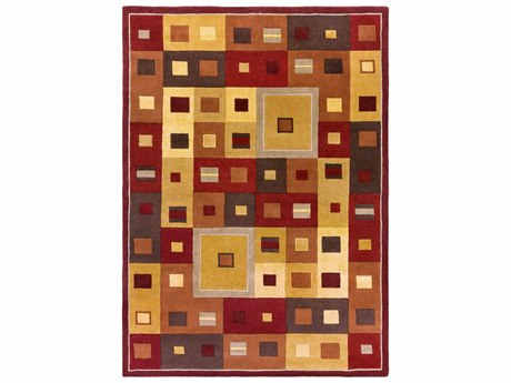 Surya Forum Rectangular Red Area Rug