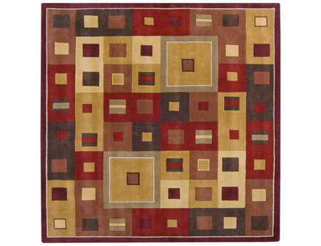 Surya Forum Square Red Area Rug