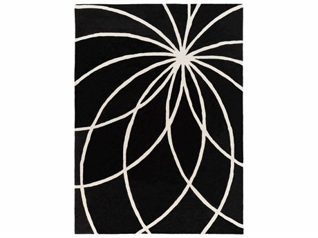 Surya Forum Rectangular Black Area Rug