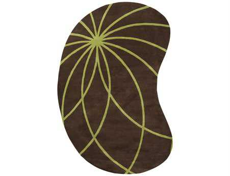 Surya Forum Kidney Brown Area Rug