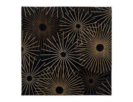 Surya Forum Square Black Area Rug