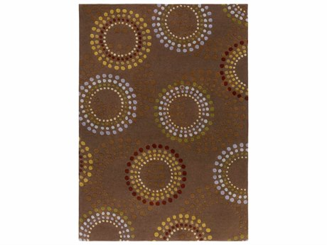 Surya Forum Rectangular Brown Area Rug
