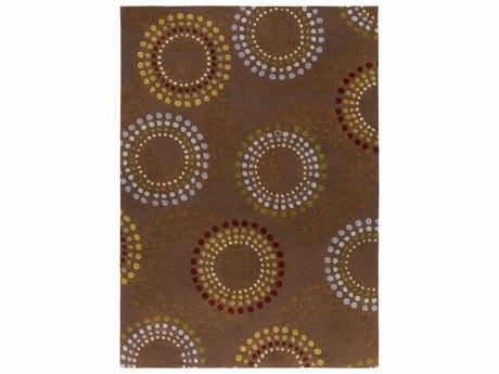 Surya Forum Rectangular Brown Area Rug