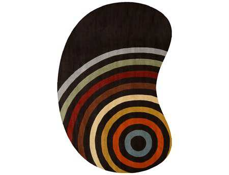 Surya Forum Kidney Black Area Rug