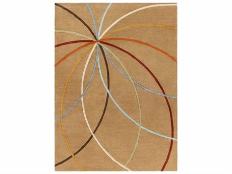 Surya Forum Rectangular Beige Area Rug