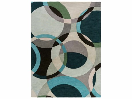 Surya Forum Rectangular Green Area Rug