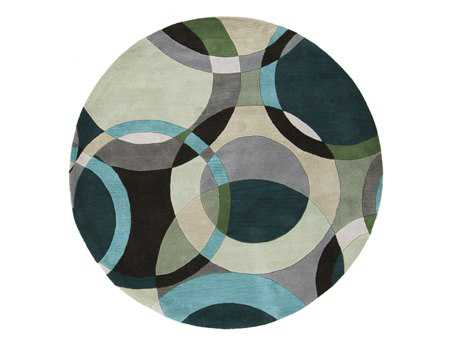 Surya Forum Round Green Area Rug