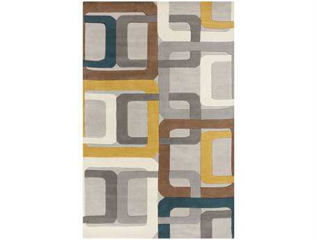 Surya Forum Rectangular Gray Area Rug