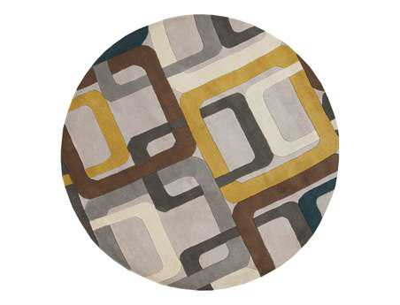 Surya Forum Round Gray Area Rug