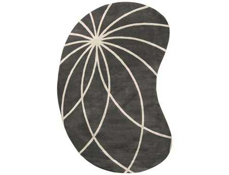 Surya Forum Kidney Gray Area Rug