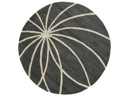 Surya Forum Round Charcoal & Cream Area Rug