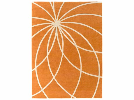 Surya Forum Rectangular Orange Area Rug