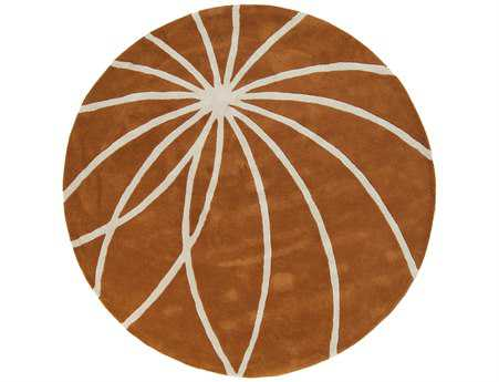 Surya Forum Round Orange Area Rug