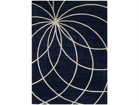 Surya Forum Rectangular Blue Area Rug