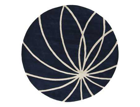 Surya Forum Round Blue Area Rug
