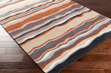 Surya Forum Rectangular Tan, Khaki & Rust Area Rug
