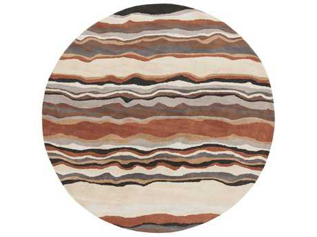 Surya Forum Round Tan, Khaki & Rust Area Rug