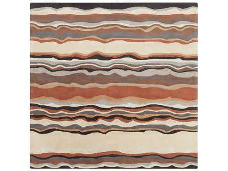 Surya Forum Square Tan, Khaki & Rust Area Rug