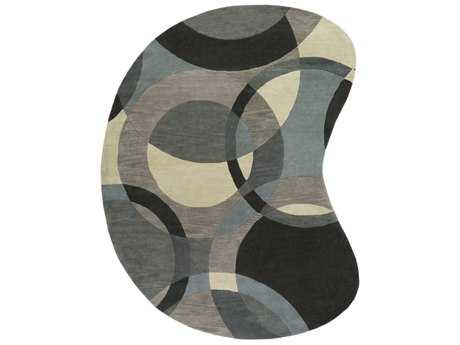 Surya Forum Kidney Khaki, Teal & Charcoal Area Rug