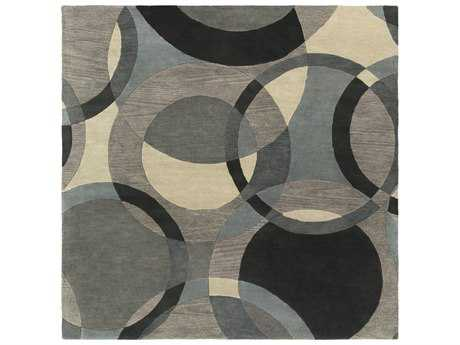 Surya Forum Square Khaki, Teal & Charcoal Area Rug