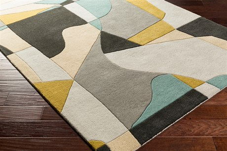 Surya Forum Rectangular Olive, Teal & Medium Gray Area Rug