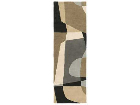Surya Forum Rectangular Medium Gray, Light Gray & Beige Runner Rug