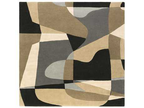 Surya Forum Square Medium Gray, Light Gray & Beige Area Rug
