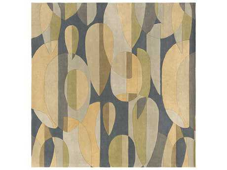 Surya Forum Square Teal, Sea Foam & Tan Area Rug