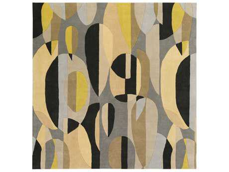 Surya Forum Square Black, Tan & Ivory Area Rug