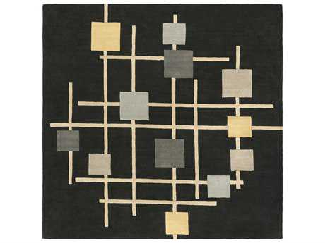 Surya Forum Square Black, Cream & Taupe Area Rug