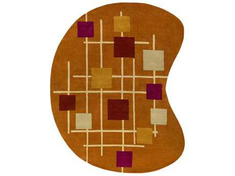 Surya Forum Kidney Burnt Orange, Rust & Cream Area Rug