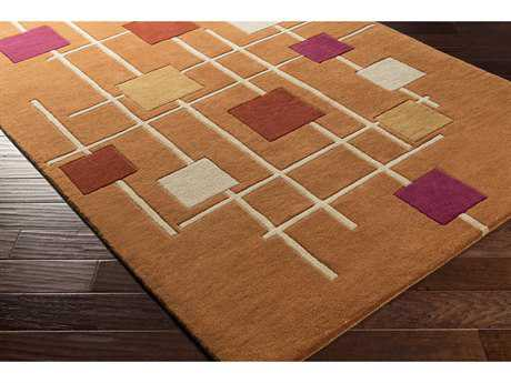Surya Forum Rectangular Burnt Orange, Rust & Cream Area Rug
