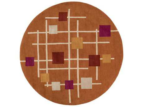 Surya Forum Round Burnt Orange, Rust & Cream Area Rug
