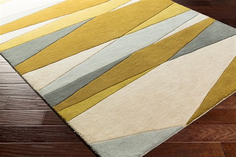 Surya Forum Rectangular Cream, Lime & Mustard Area Rug